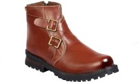 JK Port Brown Faux Leather Boots best price on Flipkart @ Rs. 915