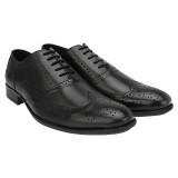 Brigit Brogue Shoes Black Lace Up (Black...