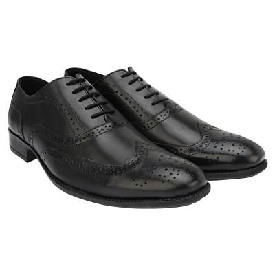 Brigit Brogue Shoes Black Lace Up