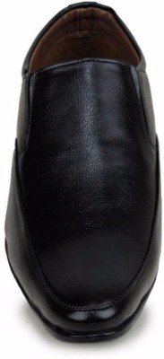 M-Toes M- Toes MT1035 Black Men Formal Shoes Slip On