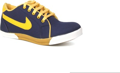 Snappy Blue-Yellow For Men Casual Shoes