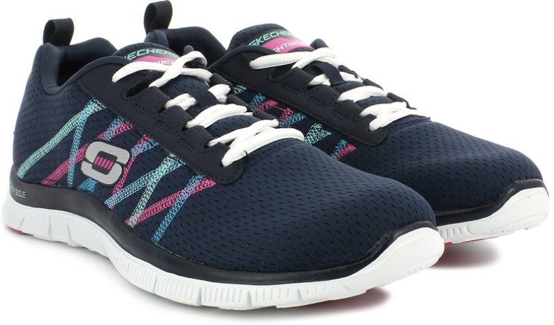 Skechers Flex Appeal - Something Gym & Fitness Shoes(Navy)