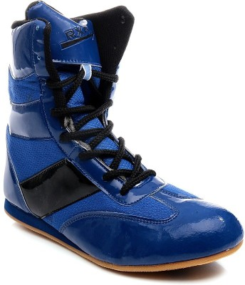 Rxn Blue Boxing & Wrestling Shoes
