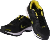 Lee Men Running Shoes (Black, Yellow)