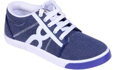 Fluid Blue Check Canvas Shoes