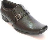 BLK LEATHER Slip On (Black)