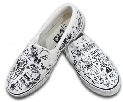 F-Gali Fashion Doodle Casual Shoes