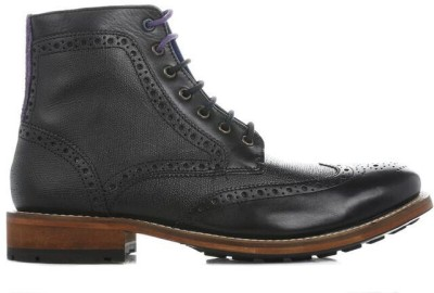 Ted Baker Mens Black Sealls 2 Leather Boots Boots