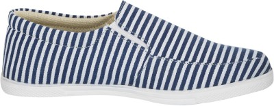 Advin England Blue Strips Casual Shoes Slip On