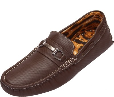 Shoebook Men,S Casual Brown Loafers(Brown)