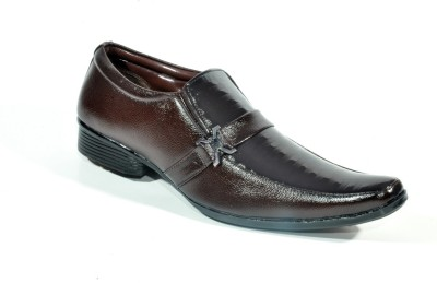 Big Wing Comforts Brown Slip On Shoes