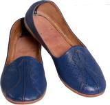 LeatherJutti Mojaris (Blue)