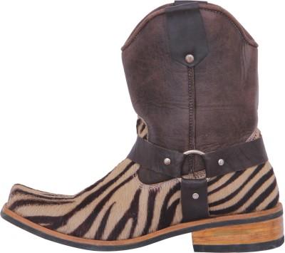 Stiletto Floral Print Brown color Boots