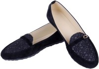 Goyal Black Dimond Cut Loafers(Black)