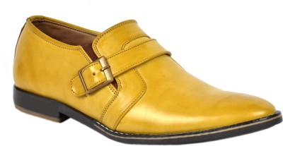 Footlodge Simple and Good Looking Corporate Casuals(Yellow)