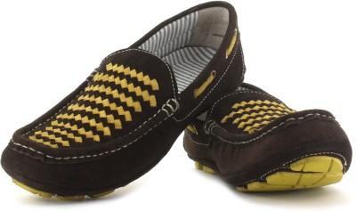 Mocas Men Loafers(Brown)