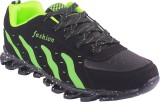 Gcollection Running Shoes (Black, Green)