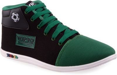 Wepro C2 Black Green Canvas Shoes