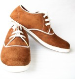 Red Cube Sneakers (Brown)