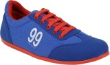 Vonc Blue Canvas Shoes (Blue)