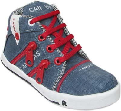 Cutie & Brat Red and Blue Canvas Shoes