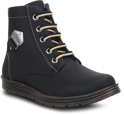 Get Glamr Black Mens Boots