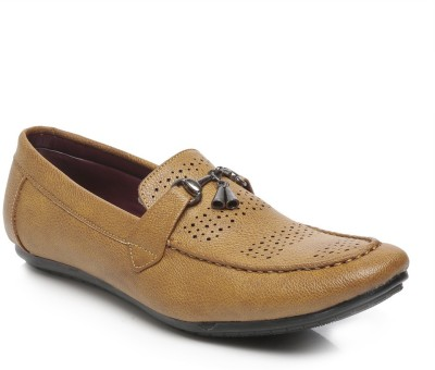 TEN Tan Faux / Synthetic Leather Loafers Loafers