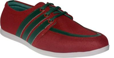 Shoekool Daring Red & Green Casual Shoes