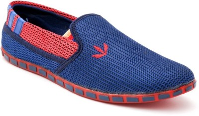 TheWhoop Funcky Mens Blue Net Loafers Shoes Casuals