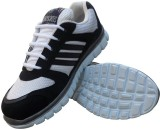 Elvace 8012 Running Shoes (Black, White)