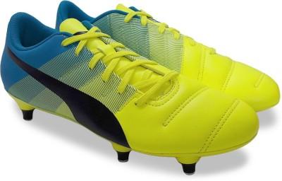 Puma evoPOWER 4.3 Football Shoes(Blue, Yellow) at flipkart