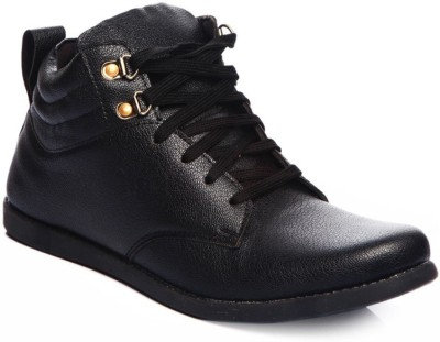 Kohinoor Trendy Black Ankle Shoes Boots