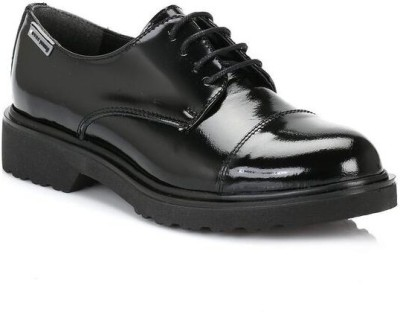 4ever young Womens Black Kappa Leather Shoes Casual Shoes