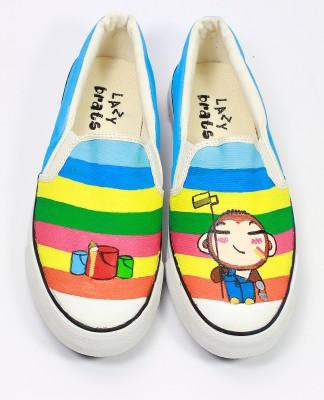 LazyBrats Painter Kid Hand painted Customised Casual Slipon Shoes