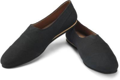 FUNK Bess Black Canvas Shoes