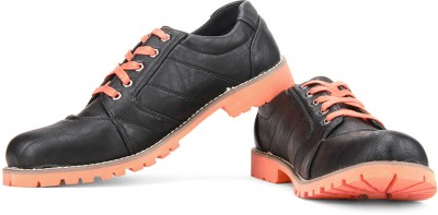 Perseus Men Corporate Casuals(Orange, Black)