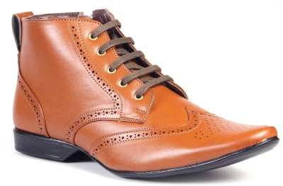 Bxxy Trendy Tan Brogue Boot Boots(Tan)
