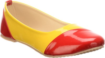 Calliebrown Callie brown trendy stylish yellow red ballerinas Bellies