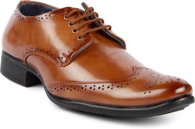 La Shades Stylish Formal Tan Brogue Shoes Party Wear