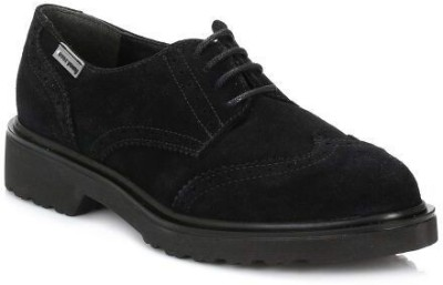 4ever young Womens Black Yale Suede Brogues Casual Shoes