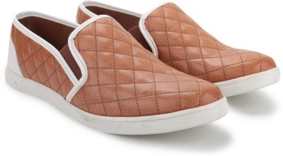 Knotty Derby Terry Slip On Corporate Casuals, Casuals, Party Wear, Loafers, Sneakers(Tan, White)