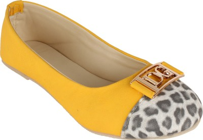 Authentic Vogue Tiger Print Yellow Ballerinas Bellies
