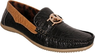 Oora Wrinkle Black Loafers