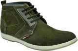 John Karsun Leather Boots (Olive)