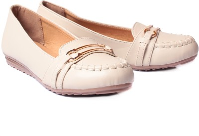 Bare Soles Gold Buckle Loafers