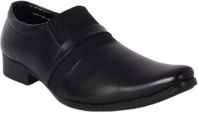 Retry Mens Black office Purpose Shoes Slip On(Black)