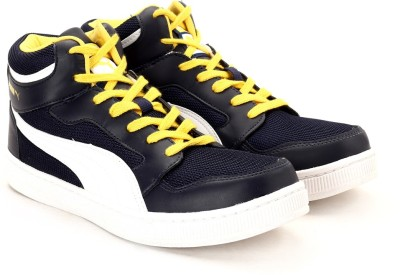 Puma Rebound Mid Lite DP Men High Ankle Sneakers(Navy, Yellow)