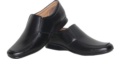 Azzaro Black Drop Slip On Shoes