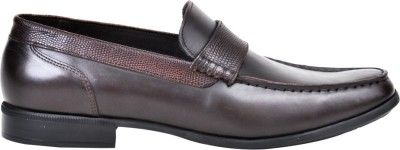 Pinellii Genoapride Brown Slip On Shoes