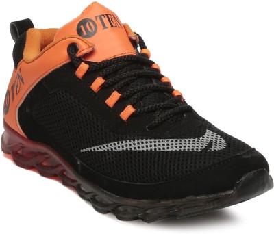 TEN Black:: Orange Mesh Sports Shoes Running Shoes